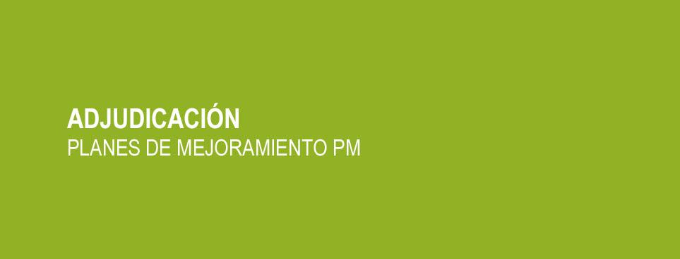 Adjudicación Planes de Mejoramiento PM 2014